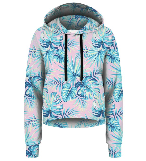 Pink Jungle cropped hoodie Thumbnail 1