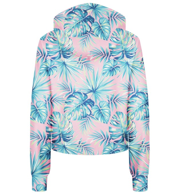 Pink Jungle cropped hoodie Thumbnail 2