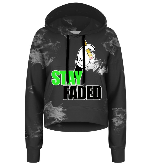 Stay Faded cropped hoodie Thumbnail 1