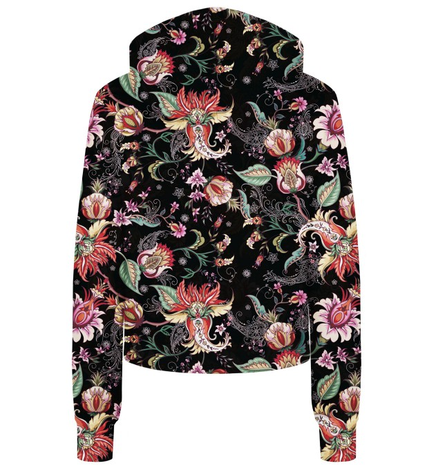 Paisley print cropped hoodie Thumbnail 2
