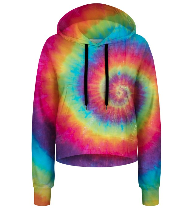 Colorful Tie-dye cropped hoodie Thumbnail 1