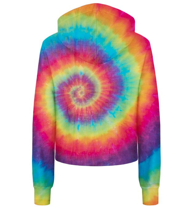 Colorful Tie-dye cropped hoodie Thumbnail 2