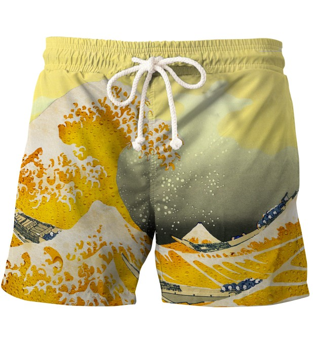 Great Wave of Beer swim shorts Thumbnail 2