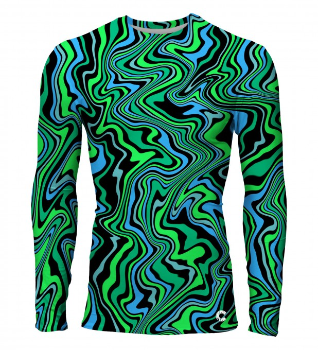 Green distortion rashguard Thumbnail 1