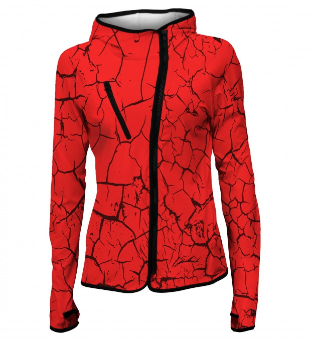 Red cracks hoodie Thumbnail 1