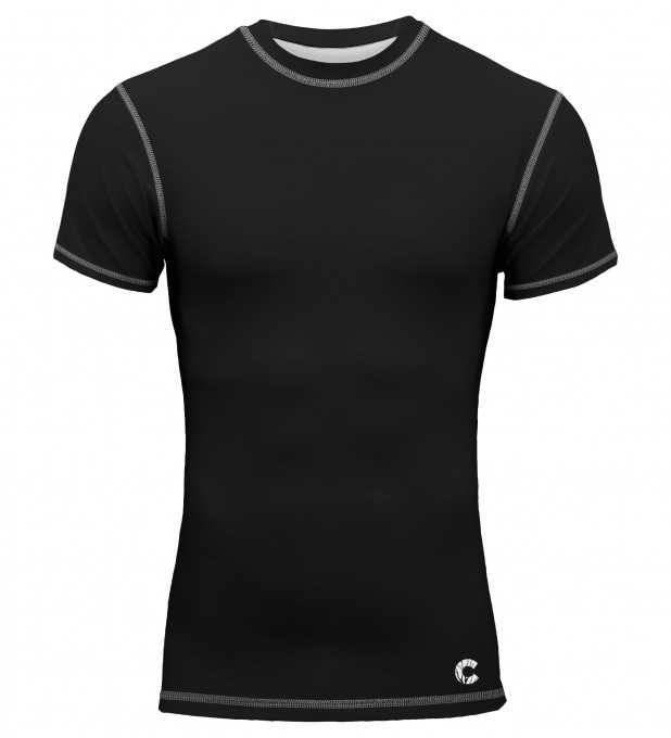 Plain Black Shortsleeve Rashguard Thumbnail 1