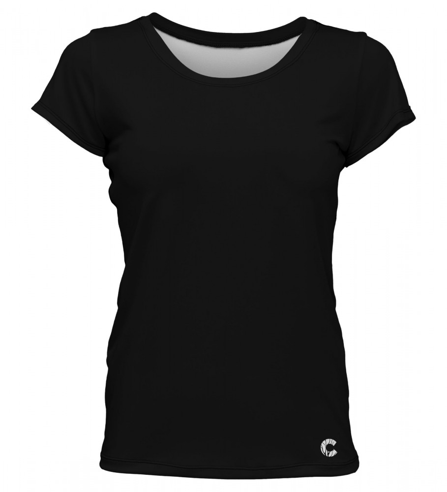 Carpatree, Plain Black O-Neck T-Shirt Image $i