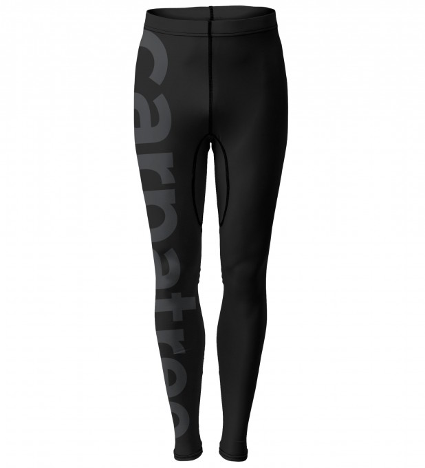 Plain black logo men's tights Thumbnail 1