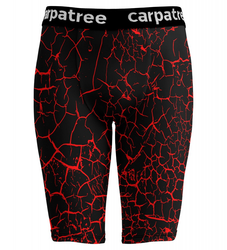 Carpatree, Black Cracks Boxer Tight Shorts Image $i
