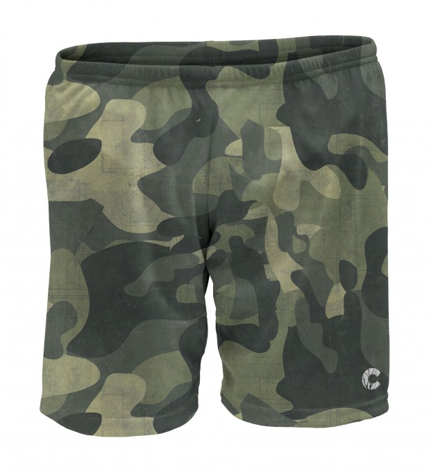 Green Camo sport shorts Thumbnail 1