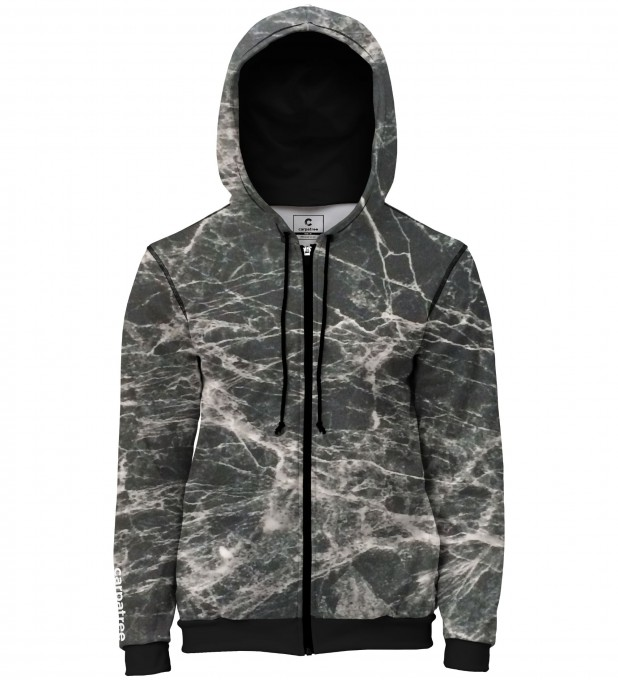 Black marble men's casual hoodie Thumbnail 1