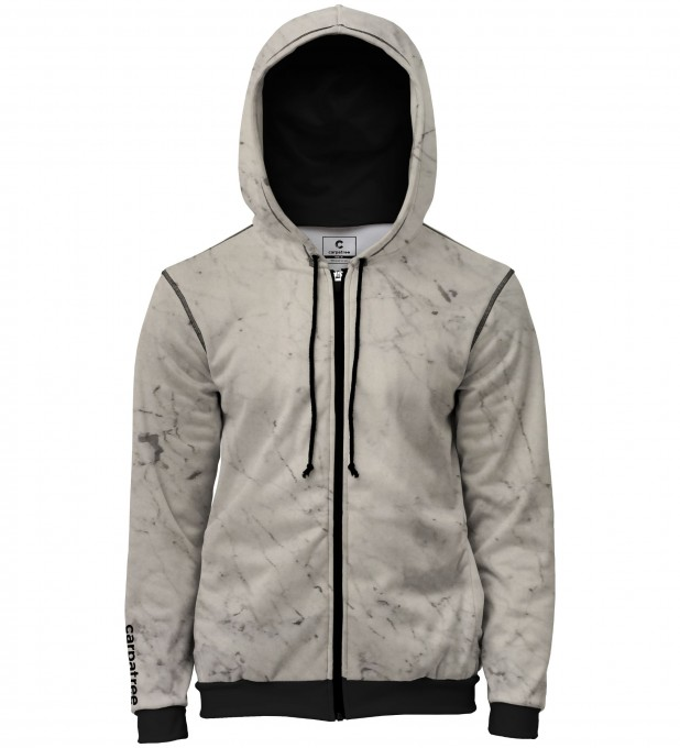 White marble men's casual hoodie Thumbnail 1