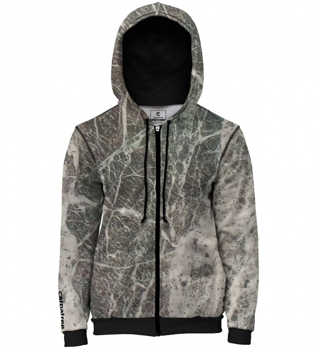 Grey marble men's casual hoodie Thumbnail 1