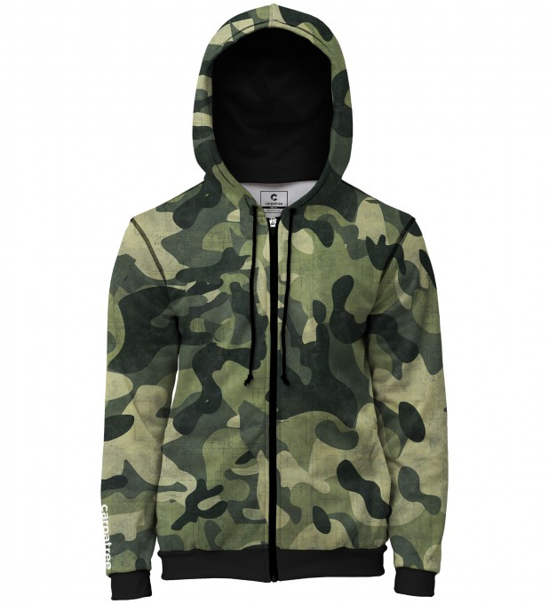 Green Camo men's casual hoodie Thumbnail 1