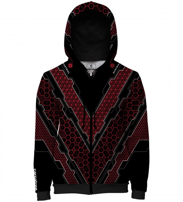 Scorbio Red men's casual hoodie Thumbnail 1