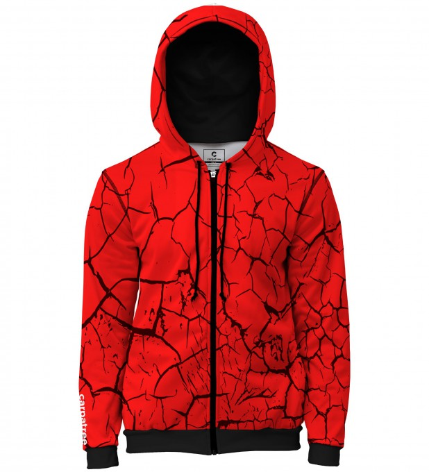 Red Cracks men's casual hoodie Thumbnail 1