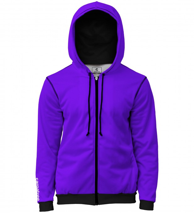 Purple men's casual hoodie Thumbnail 1