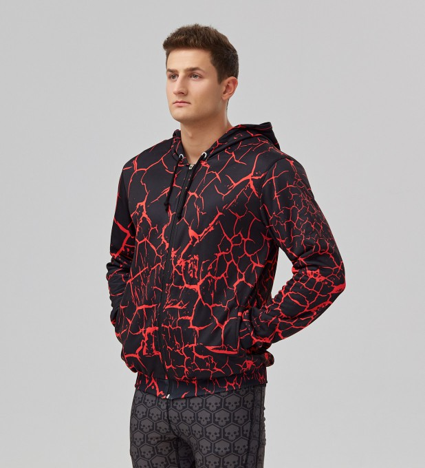 Black Cracks men's casual hoodie Thumbnail 2