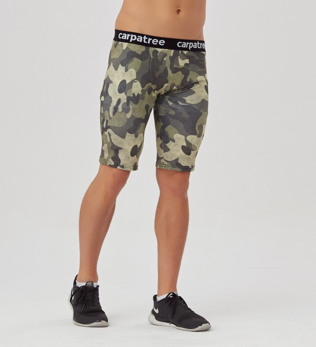 Green Camo Boxer Tight Shorts Thumbnail 1