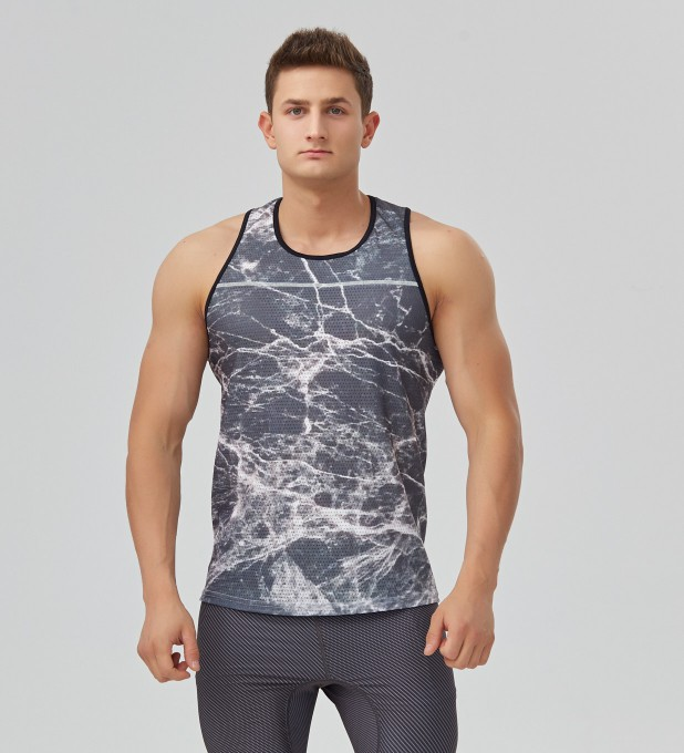 Black marble tank-top Thumbnail 1