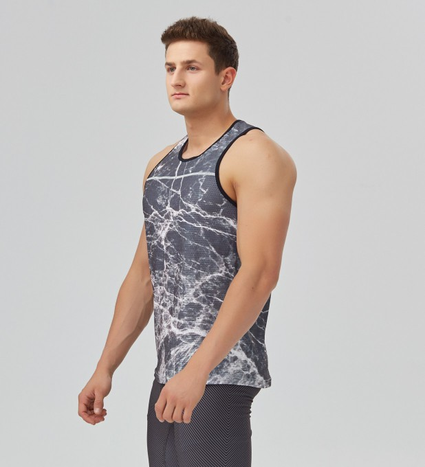 Black marble tank-top Thumbnail 2