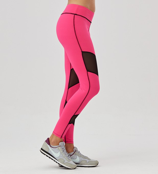Fluo Pink Double Mesh Leggings Thumbnail 2