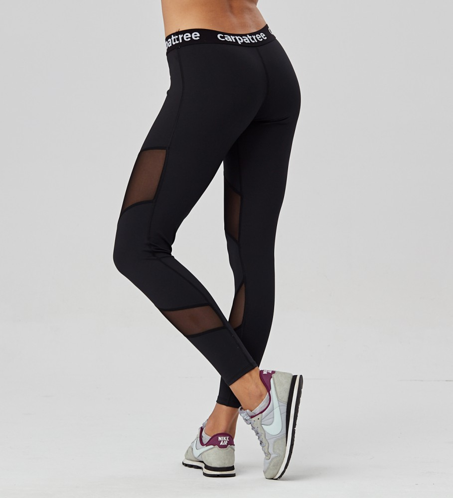 Carpatree, Black Double Mesh leggings Image $i
