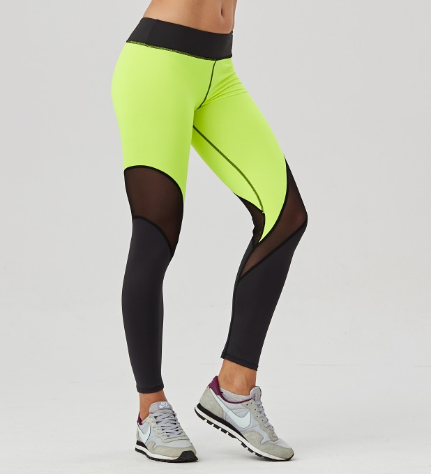Twotone Fluo Green tulle leggings Thumbnail 1