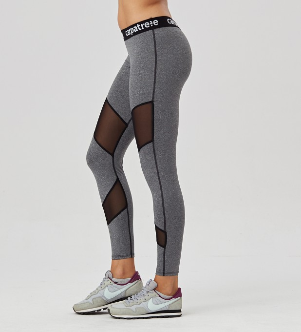 Grey Double Mesh leggings Thumbnail 2