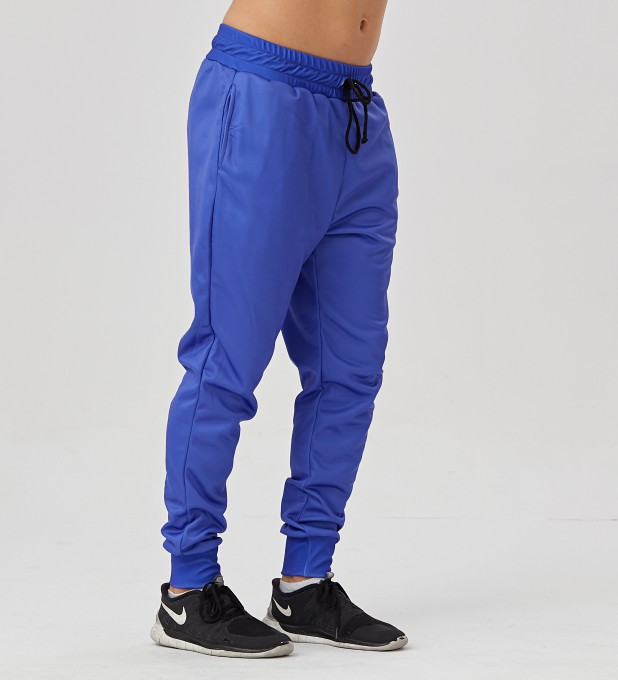 Electric Blue men's joggers Thumbnail 2