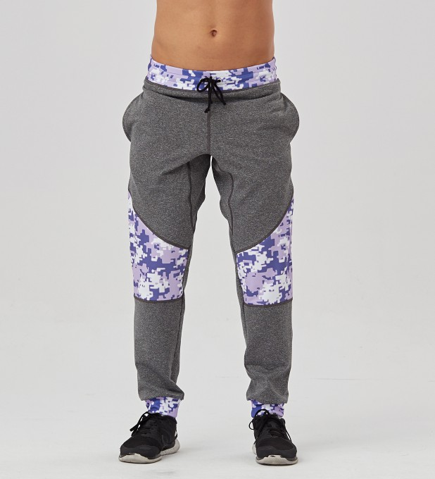 Digital Camo Patched Joggers Thumbnail 1