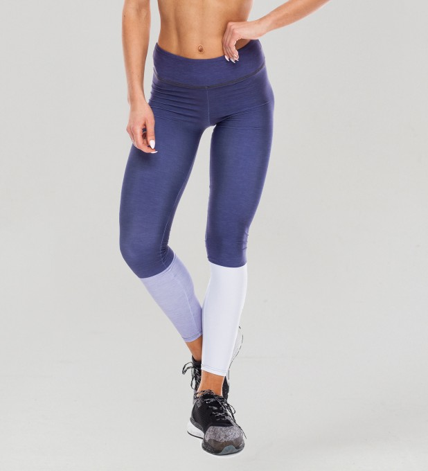 Tricolor Galaxy Blue Pastel Leggings  Thumbnail 1