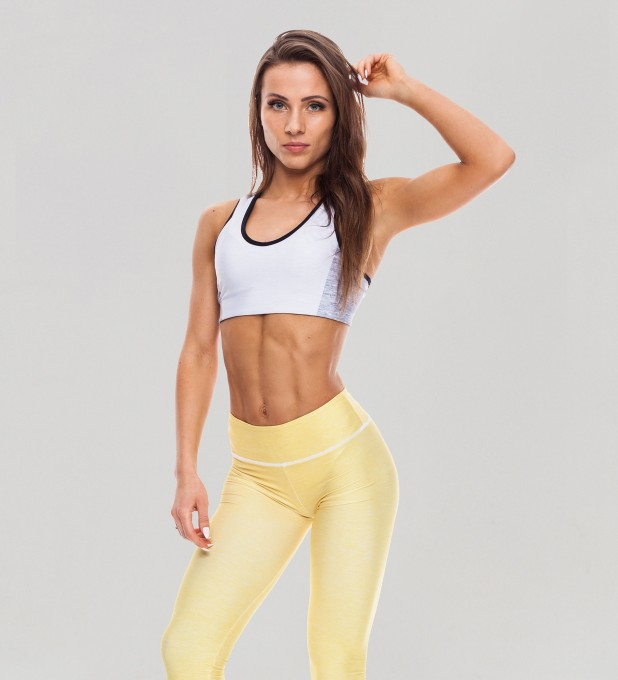 Twotone Cloud Dancer Pastel Sports Bra Thumbnail 1