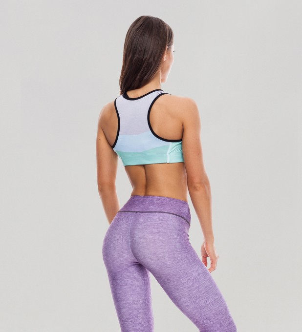 Tricolor Cloud Dancer Pastel Sports Bra Thumbnail 2
