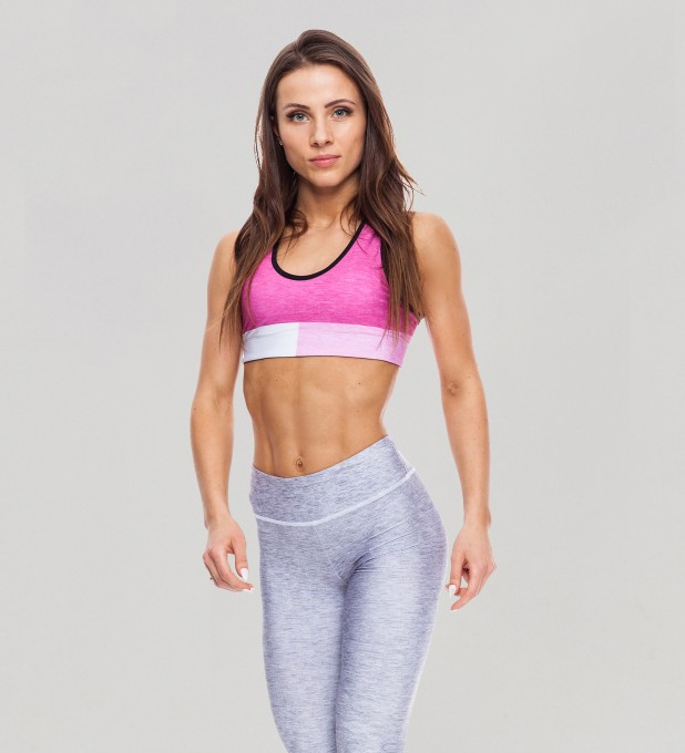 Tricolor Bubblegum Pastel Sports Bra Thumbnail 1