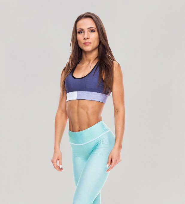 Tricolor Galaxy Blue Pastel Sports Bra Thumbnail 1