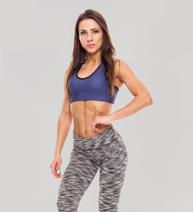 Galaxy Blue Pastel Sports Bra Thumbnail 1