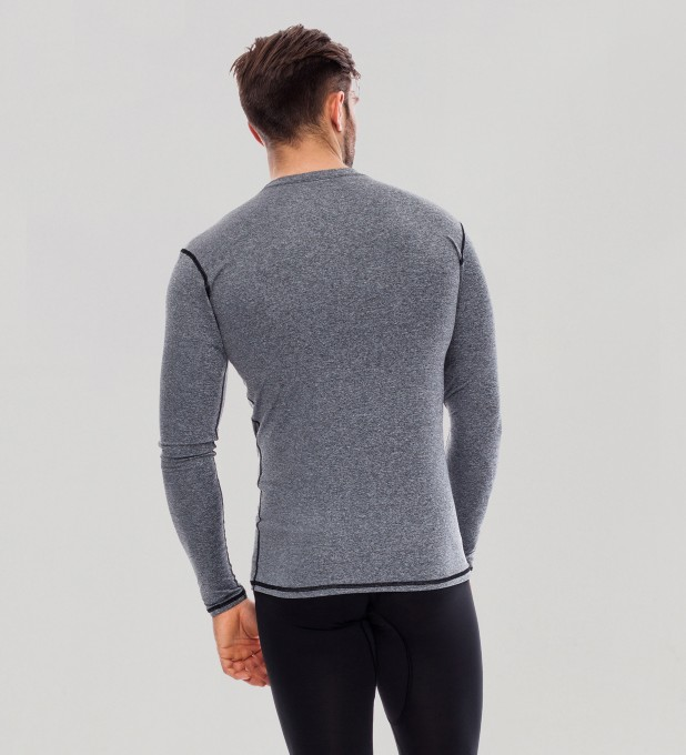 Grey Plain Basic Rashguard Thumbnail 2