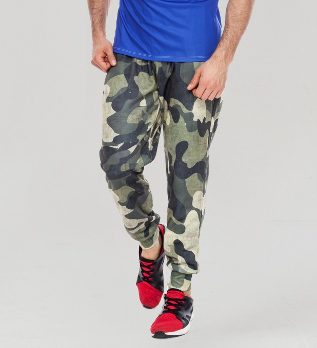 Green Camo men's joggers Thumbnail 1