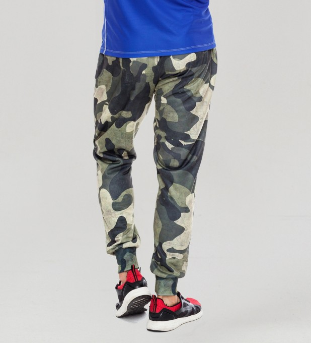 Green Camo men's joggers Thumbnail 2
