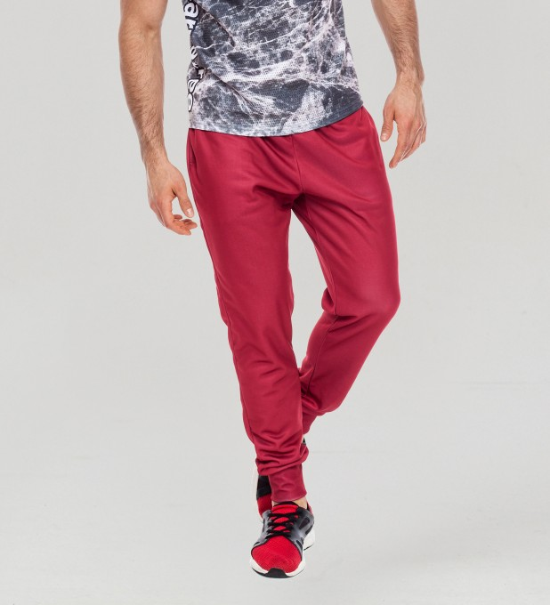 Burgundy men's joggers Thumbnail 1