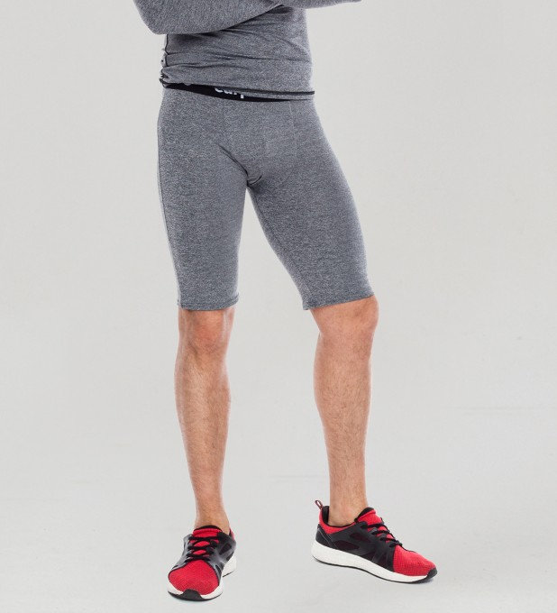 Basic Plain Grey boxer tight short Thumbnail 1