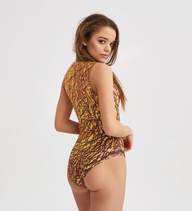 Gold One-Piece Swimsuit Thumbnail 2