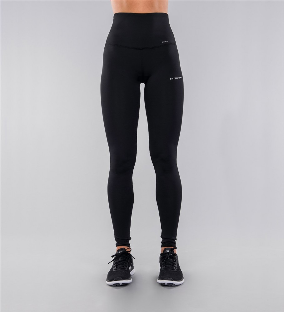 Carpatree, Full Black Classic Highwaist Leggings Image $i