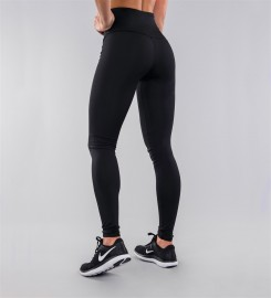 Carpatree, Full Black Classic Highwaist Leggings Thumbnail $i