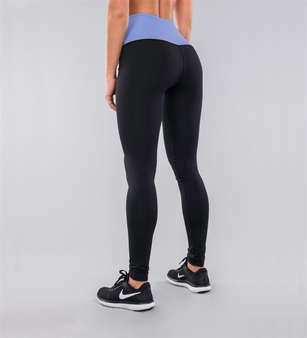 Black Classic & Azure Belt Highwaist Leggings Thumbnail 2