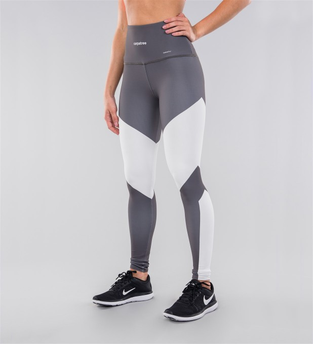 Grey & White Highwaist Leggings Thumbnail 1