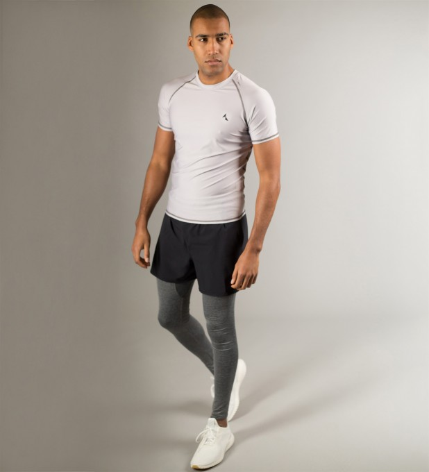 Light Grey Raglan Shortsleeve Rashguard Thumbnail 2