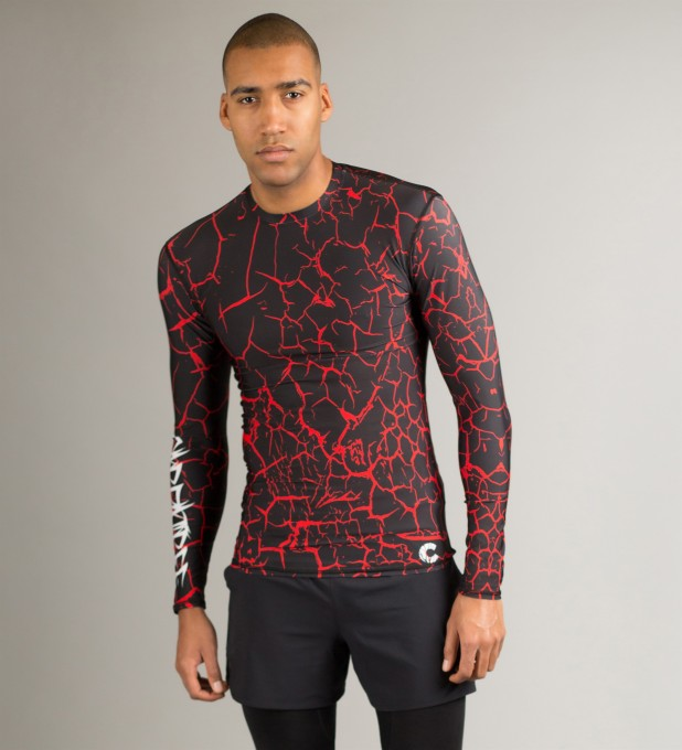 Black Cracks Longsleeve Rashguard Thumbnail 1