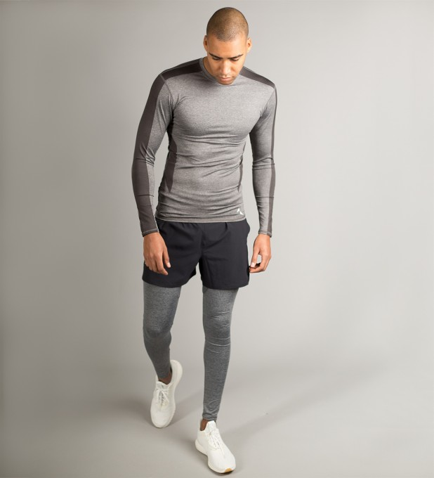 Grey Shaded Longsleeve Rashguard Thumbnail 2